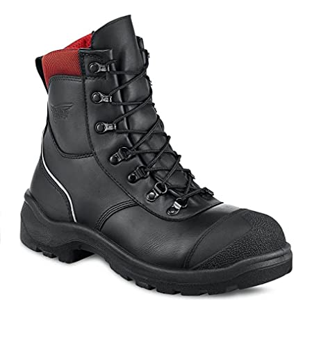 Red Wing 3283 S3 Safety Leather Black Boots Puncture Resistant Side Zip UK 6.5