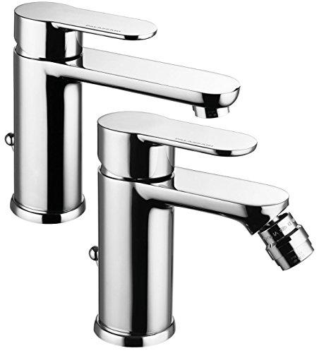 Miscelatore rubinetto per lavabo e bidet bagno Bella in ottone cromato Palazzani