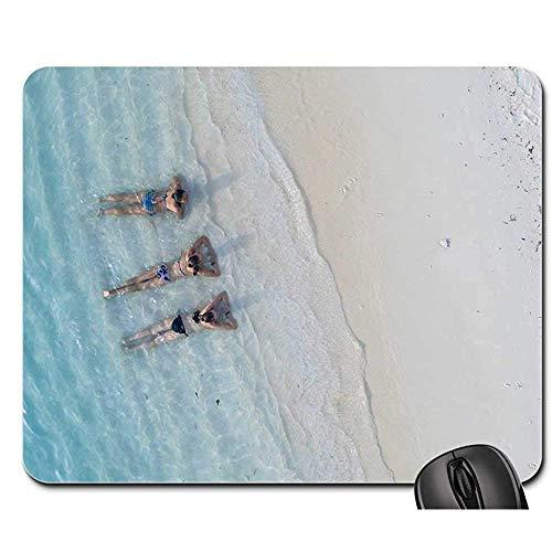 Gaming Mat Mensen Vrouw Badpak Bikini Ocean Sea Beach Mouse Pad Mousepad Muis Mat Muis Pads Gaming Mat 25 x 30 cm