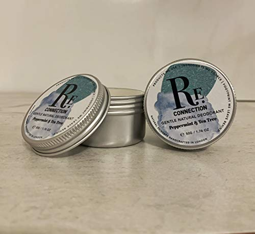 Herhaling | Zachte natuurlijke Deodorant | Aluminiumvrij | Natriumbicarbonaatvrij | Organische ingrediënten | Handgemaakt in Londen | 50g