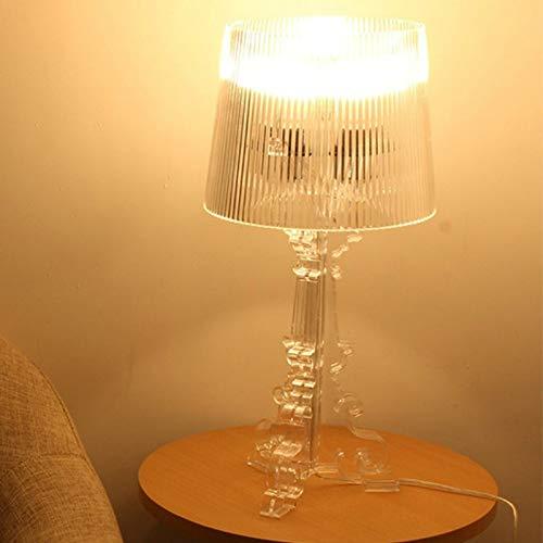 Lámpara de mesa Mesa De Luz Led Acrílica Kartell Bourgie De Diseño Italiano, Iluminación Interior Simple Moderna, Decoración Artística, Sala De Estar, Dormitorio, Estudio, Bar