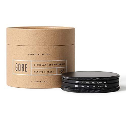 Gobe - Kit filtro UV + filtro polarizzatore circolare (CPL) per obiettivi 82 mm (2Peak)