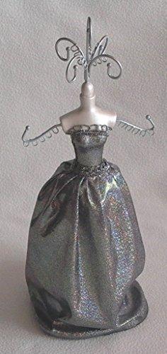 Schmuckpuppe mit silberfarbenem Kleid HxB ca. 42x16cm 21000