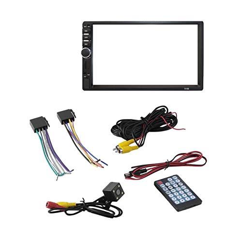 Greatangle-UK 7 Pulgadas Doble 7018B 2 DIN Coche FM Radio estéreo Reproductor MP5 Pantalla táctil Reproductor Multimedia 4 cámaras de luz