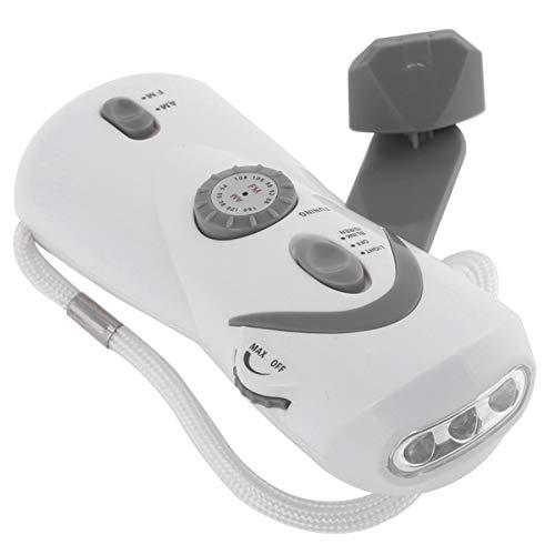 AM FM 防災ラジオ 携帯 ポータブル 手動クランク発電機 携帯電話充電器 地震警報 USB 充電式 LED非常灯 点滅灯 家庭の非常設備をよけます