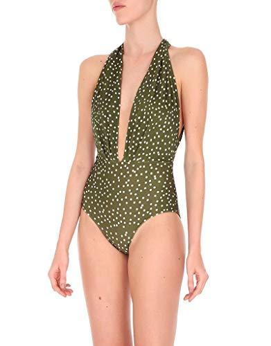 Adriana Degreas Mille Punti Halterneck Swimsuit (Medium) Green