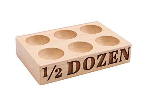 Holz Ei Halterung für Kühlschrank oder Ei Speicher?6Eier/Hälfte Dutzend Egg Box, in Geschenkverpackung