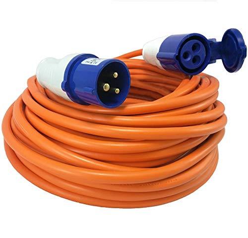 25m Caravan Hook Up Extension Cable 230V 3pin Mains Transformer Electric Lead MarkUK®
