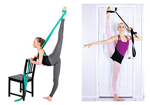 SUPERIORBAND + STRETCHMAX Ballet Stretch Band Leg Stretching Strap. in One Special Bundle
