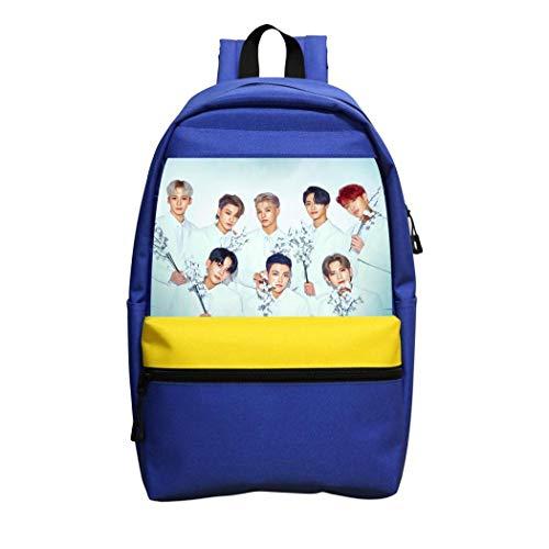 No aplicable K Pop A-TEEZ mochila para niñas niños y adultos al aire libre, azul, ONE_SIZE