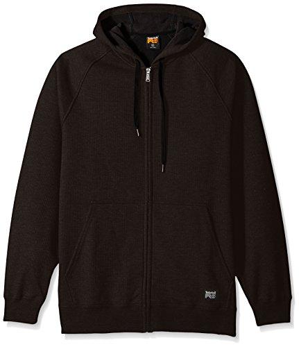 Timberland PRO Men's Downdraft Thermal-Bonded Full-Zip Sweatshirt, Jet Black, X-Large