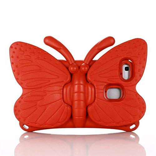 For Samsung Galaxy Tab A 8.0 inch 2019 T290 T295 T380 Kids Shockproof Case Cover,Tablet PC case, bracket shell,Butterfly protective sleeve (for Samsung Tab A 8.0 T380/T385, red)