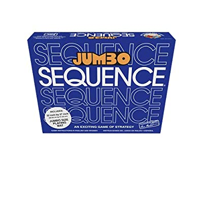 Jax Jumbo SEQUENCE Game - Box Edition with Cushioned Mat, Cards and Chips , Blue by Jax Ltd Inc