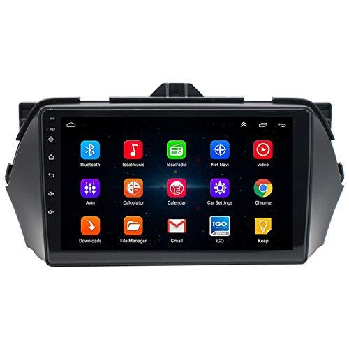 ADMLZQQ Android 10 Car Radio de Navegación GPS para Suzuki Alivio 2014-2018 con 9 Pulgada Pantalla Táctil con cámara Trasera/Google Play/Mapa en línea/Salida de Video,WiFi 1+16