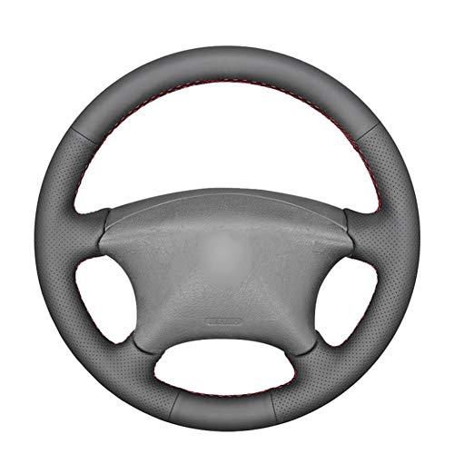 MDHANBK Funda para volante de coche cosida a mano, para Peugeot Partner 807 2003-2008