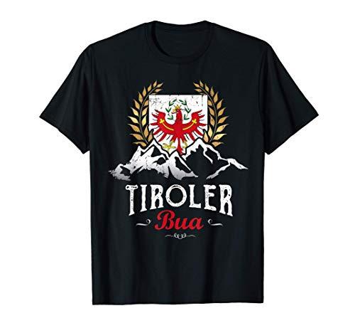 Tiroler Bua Tirol Berge Adler Wappen Lausbua Lustiger Spruch T-Shirt
