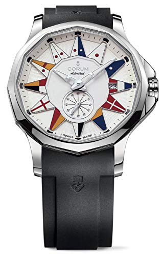Corum Admiral Legend 42 Stainless Steel Automatic White Dial Mens Watch Calendar 395.101.20/F371 AA12