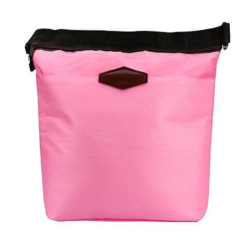 HWTOP Zubehör Lunchtasche Wasserdichte Lunchpaket Wärmekühler Isolierte Lunchbox Brotdose Tragbare Handtasche Tragetasche Picknickbeutel, Rosa