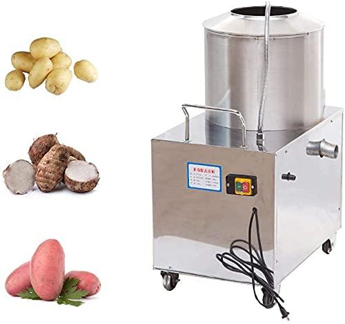 Máquina de peladura de patata de acero inoxidable, máquina de peeling de patata automática comercial, acero inoxidable centrífuga rotativo fruta y cuchillo de vegetal herramienta de peeling,2200W