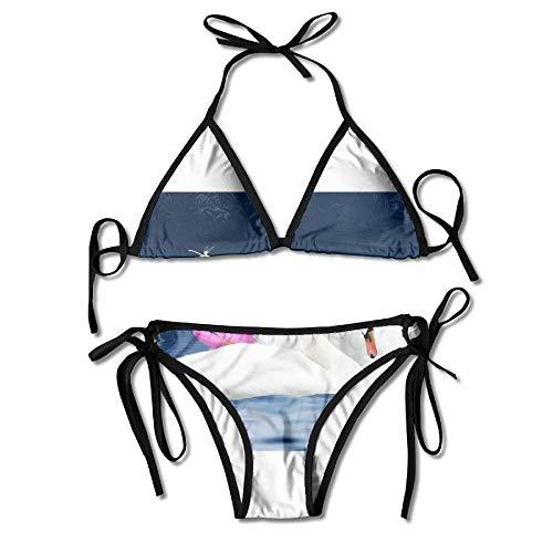 Love Swans Lotus Bikini Women's Summer Swimwear Triangle Top Bikinis Swimsuit Sexy 2-Piece Set