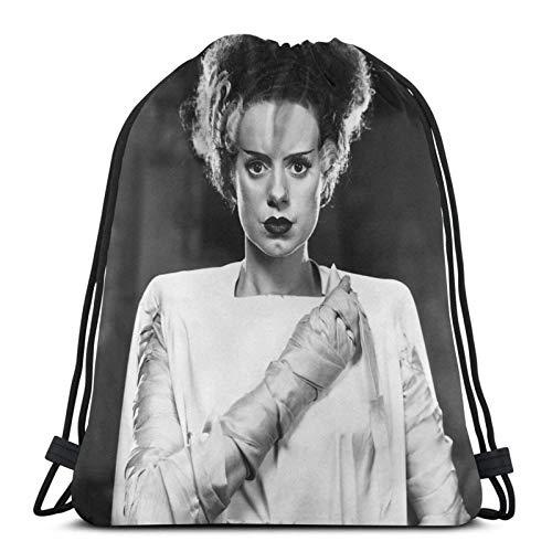 Classic Bride of Frankenstein Sport Sackpack Drawstring Backpack Gym Bag Sack