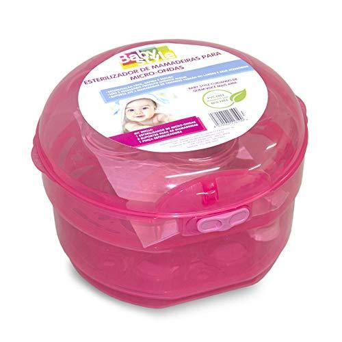 Esterilizador De Microondas Mamadeiras E Chupetas - Baby Style - Rosa