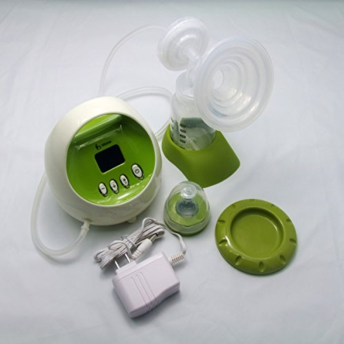 Nibble Single Electric Breast Pump Breastfeeding Pump BPA Free, LCD Display, Safe & Comfortable, Stimulation + Expression Phases Protect Breast, Avoid Milk Back Flow, Nursing Mom's Best helper