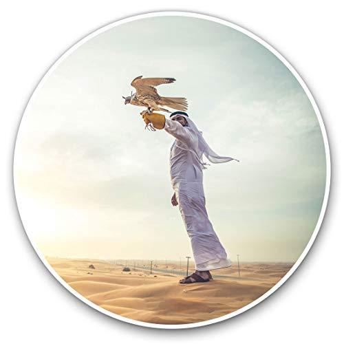 Pegatinas de vinilo impresionantes (juego de 2) 20 cm, diseño de águila árabe halcón águila divertido para portátiles, tabletas, equipaje, chatarra de reservas, neveras, regalo fresco #3048