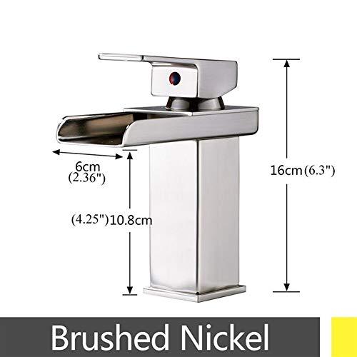 Bacino rubinetti Cascata rubinetto del bacino del bicromato di potassio/oro/nichel spazzolato/globo lucido Deck Mount bagno lavandino rubinetto calda fredda Miscelatore rubinetteria da bagno