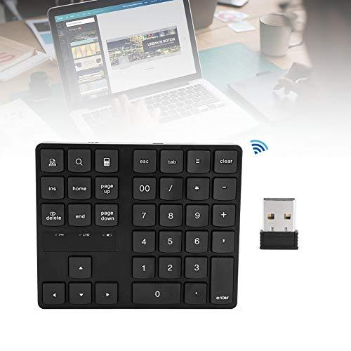 Tastiera numerica wireless, tastierino numerico portatile ultra sottile Tastiera USB Mini tastiera 2.4G USB, per notebook PC desktop portatile