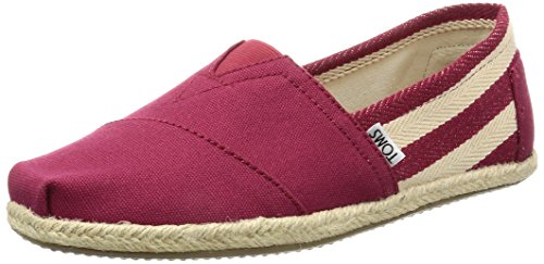 TOMS Men's Classic Canvas Red Stripe University Ankle-High Flat...