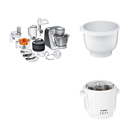 Bosch MUM56340 Küchenmaschine Styline + Kunststoff-Rührschüssel + Eisbereiter