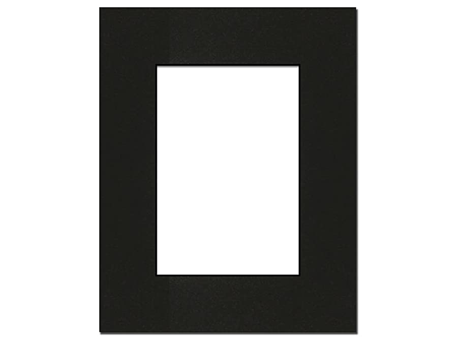 PA Framing, Photo Mat Board, 8 x 10 inches Frame for 5 x 7 inches Photo Art Size - Black Core/Black