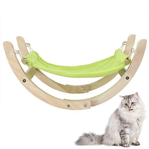 Cocosity Hamaca de Madera Natural para Mascotas, Cama Colgante Duradera para Mascotas Resistente para Mascotas, Perros pequeños, Gatos, Cachorros