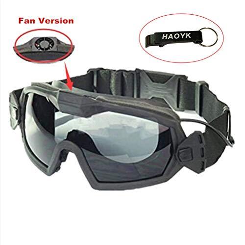 Haoyk Masque lunettes avec aérations pour sports