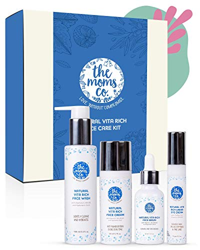 The Moms Co. Natural Vita Rich Complete Face Care with Face Wash, Cream, Serum and Under Eye Cream