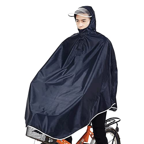 sorliva Resistente al Viento con Capucha - Chubasquero Poncho para Bicicleta y Ciclismo, Resistente al Viento con Capucha, 1 Pack de 1, Negro