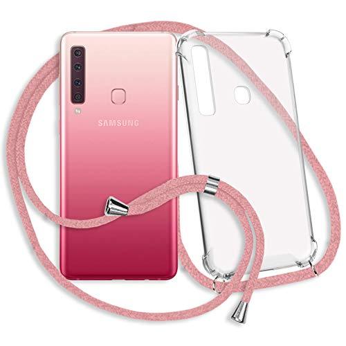 mtb more energy Collar Smartphone para Samsung Galaxy A9 2018 (SM-A920, 6.3'') - Rosa - Funda Protectora ponible - Carcasa Anti Shock con Cuerda