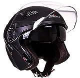 Scotland Motorcycle Dept 120019-nrop-xl – Casco de moto con visera de sol para Unisex – Adulto, Negro, XL
