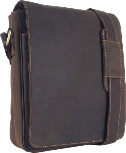 UNICORN Echt Leder Braun ipad , Ebook oder Tablets Messenger Tasche bag #2E