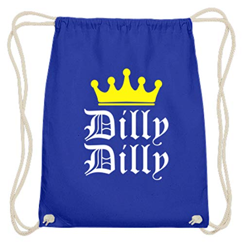 generisch Dilly Dilly - Krone, Freunde, Freundeskreis, Freundschaft, Party, Alkohol, Trinken, Bier - Baumwoll Gymsac -37cm-46cm-Royales Blau