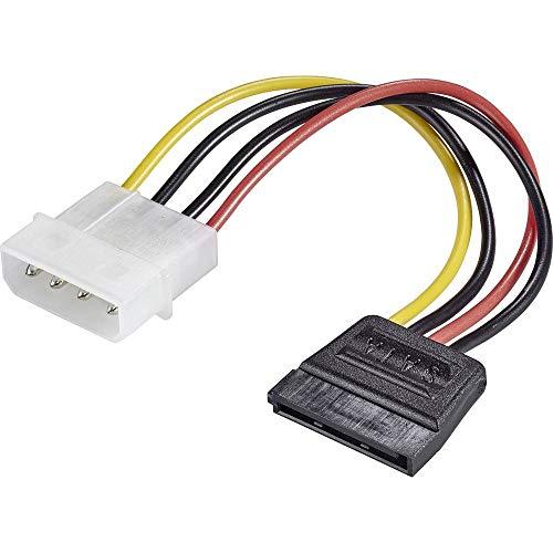 Renkforce Strom Adapter [1x IDE-Strom-Stecker 4pol. - 1x SATA-Strom-Buchse 15pol.] 12.00 cm Schwarz, Rot, Gelb