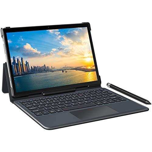 YESTEL Tablet 10 Pulgadas 5G WiFi 4G LTE Dual SIM Android 10.0 Tablet PC 1.6 GHz Procesador Octacore, Face ID, FHD 1920 * 1200, 64 GB Ampliables hasta 128 GB, 3 GB de RAM, con Teclado Magnetico, Gris