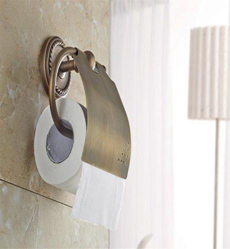 Sucastle® 160*180*160(mm) cuivre Porte Rouleau Papier Toilette Acier Inoxydable Métal Chromé Miroir Poli Dérouleur Papier Accessoirs WC,Déco Murale WC, Distributeur Papier WC-Accessoire Toilettes Salles de Bains