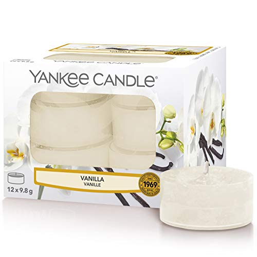 Yankee Candle Tea Light Scented Candles | Vanilla | 12 Count
