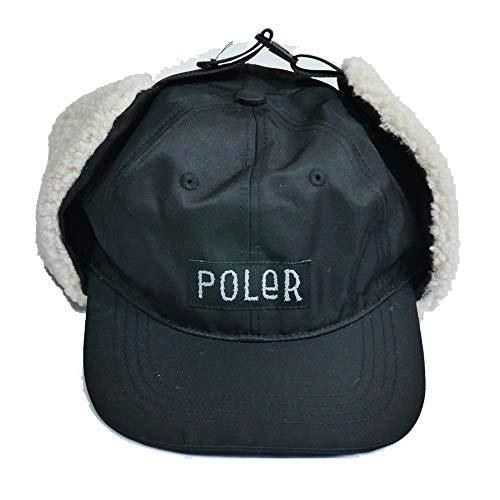 POLER(ポーラー)FURRYFONT FLIGHT NYLON 6PANEL EARFLAP CAP BLK