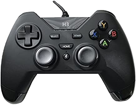 USB Wired Gaming PC Controller for Computer Laptop (Windows 10/8.1/8/ 7 / XP) / PS3 Plasytation 3 / Android Devices / PC360 / Steam Game TV Box Game with Dual Turbo Vibration by IHK