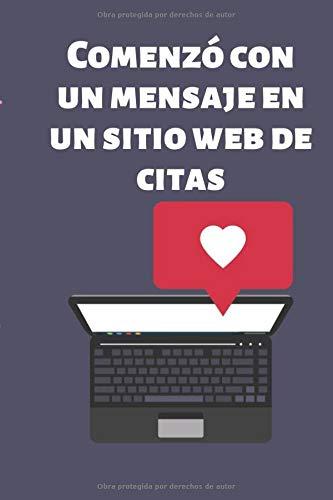 Comenzó con un mensaje en un sitio web de citas: Regalos de San Valentín para ella / él Idea de regalo de San Valentín, cuaderno / diario de San Valentín, perfecto como regalo para su pareja