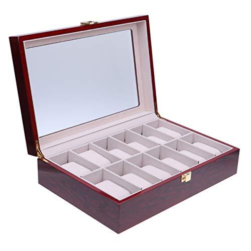 ibasenice Caja de almacenamiento de reloj de 1 pieza caja de joyería creativa práctica organizador de almacenamiento de joyería caja de presentación de reloj para líder de familias de amigos