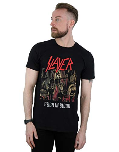 Slayer Hombre Reign In Blood Camiseta Negro X-Large